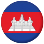 Cambodia Country Flag 58mm Mirror Keyring